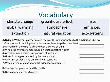 ESL Climate Change Activity