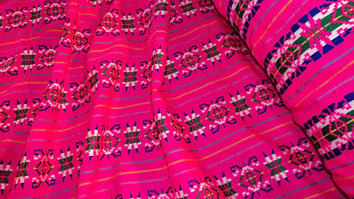 Cambaya Fabric- Hot Pink- Per yard