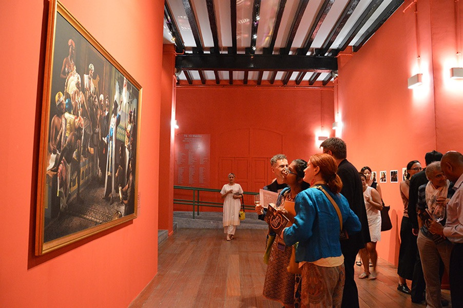 Pushpamala N. - The Arrival of Vasco da Gama