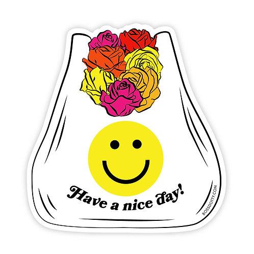 Nice Day Clear Sticker