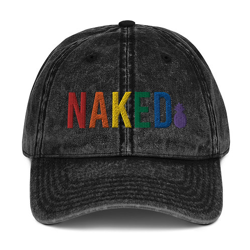 PRIDE Naked Vintage Cotton Twill Cap