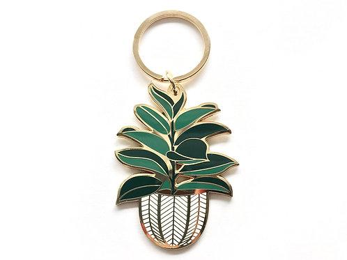 Rubber Tree Keychain