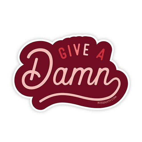 Give a Damn Sticker