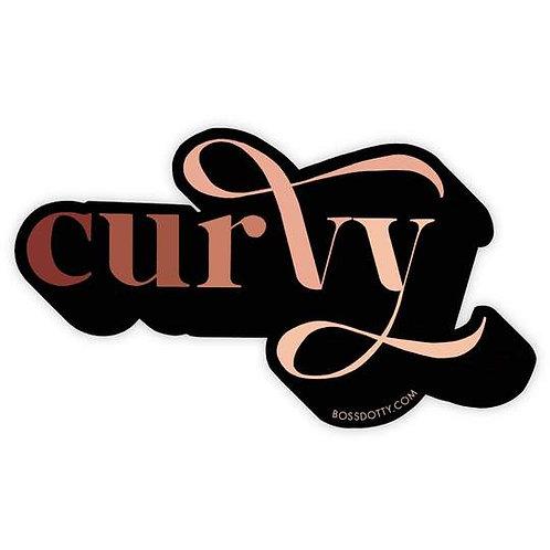 Curvy Sticker