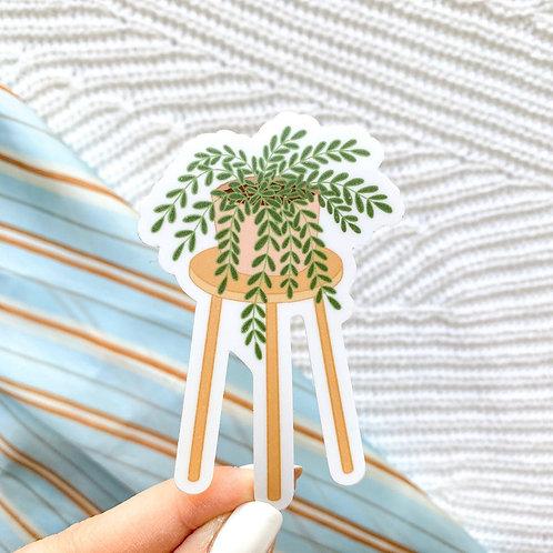 Planter on Stool Sticker