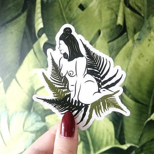 Venus in Ferns Sticker