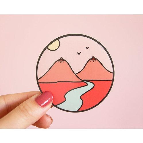 Boob Mountains Vinyl Sticker