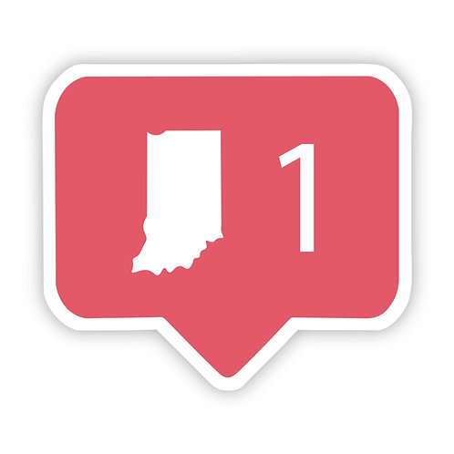 Indiana Social Media Comment Sticker