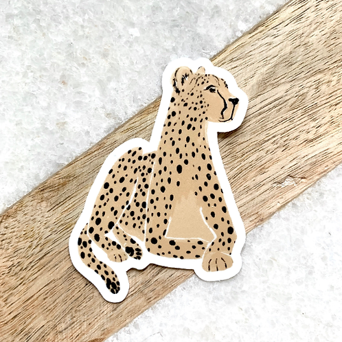 Laying Cheetah Sticker