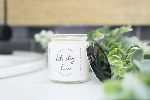 Let's Stay Home Massage Candles