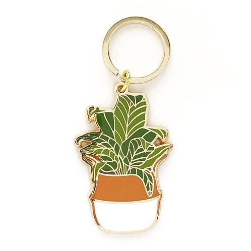 Banana Leaf Keychain