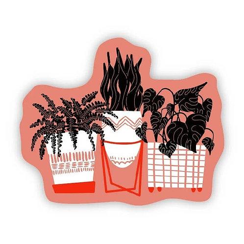 Houseplants in Pink Sticker
