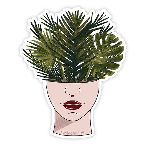 Plant Head Sticker