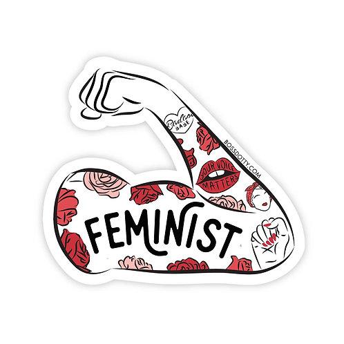 Feminist Tattoo Sleeve Sticker