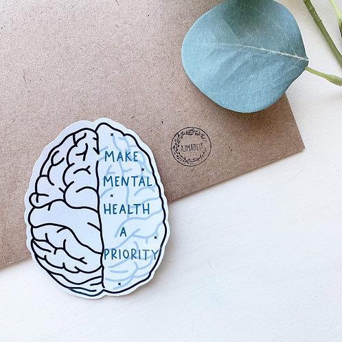 Make Mental Health a Priority Sticker