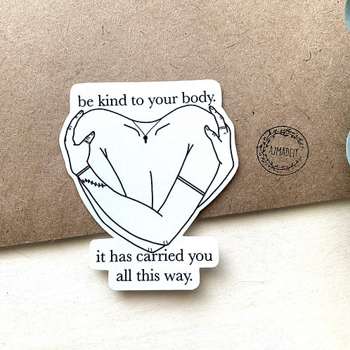 Be Kind to Your Body Body Positivity Sticker