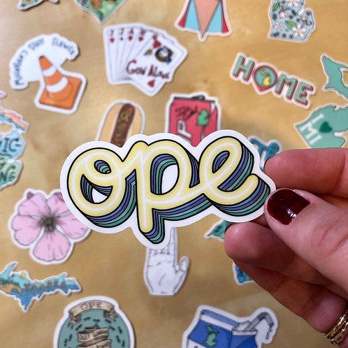 Ope Sticker