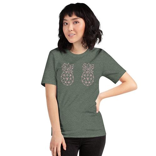Mauve Geo Pineapple B00Bs Short-Sleeve Unisex T-Shirt