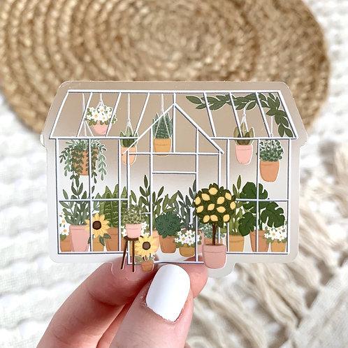 Clear Greenhouse Sticker