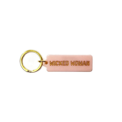 Wicked Woman Rectangle Keychain
