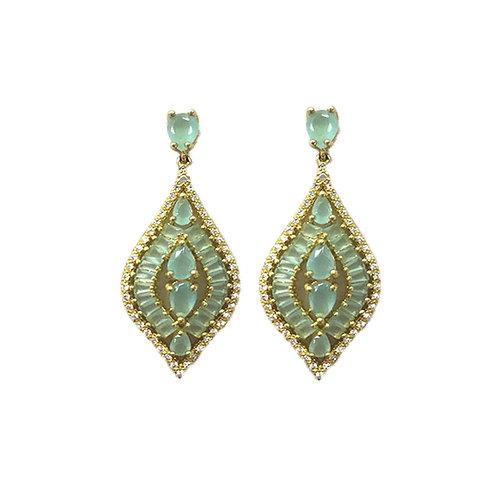Mint Jewel Drop Earrings