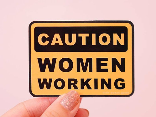 Women Working Vinyl Sticker