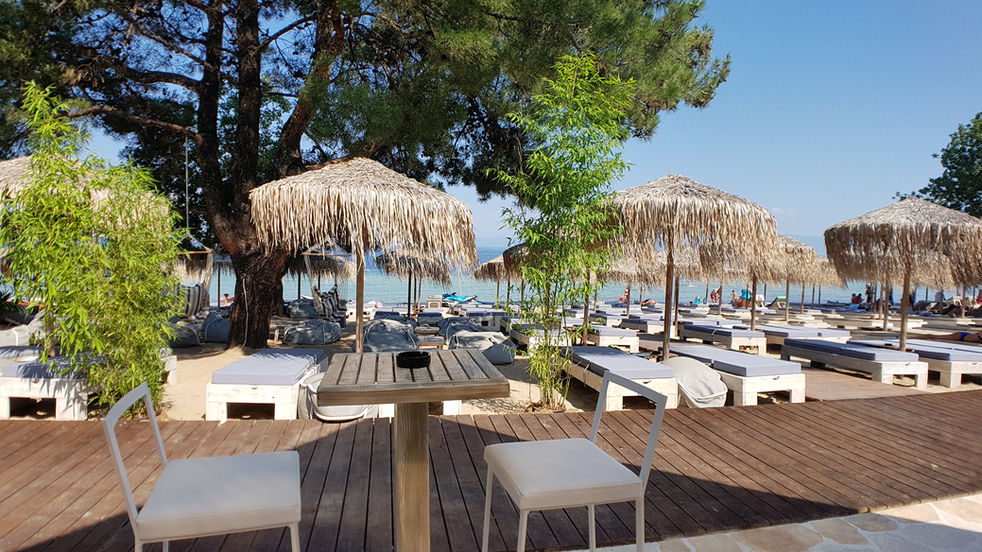 Beach bar on Pachis Beach