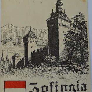 Zofinger Postkarte der Museggmauer von 1820.