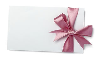 close up of  card note with  ribbon on w