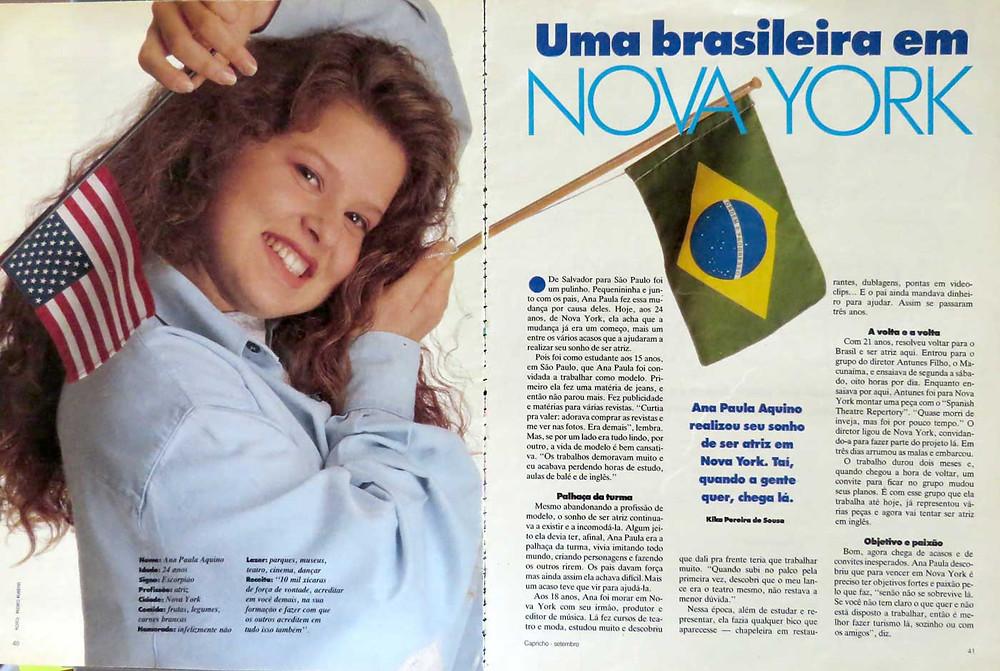 Revista Capricho - Ana Paula Aquino