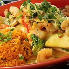 Shrimp and Guacamole Enchiladas