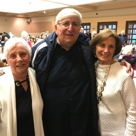 Father Ron, Liz and friend
