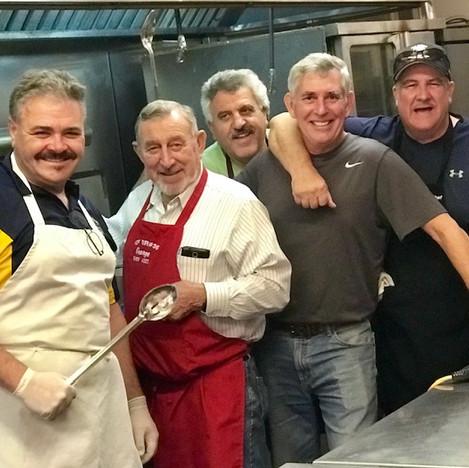 Men of the ICF kitchen