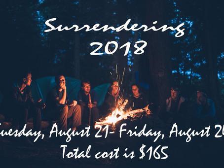 Surrendering 2018
