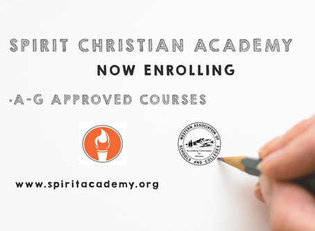 Spirit Christian Academy is Now Enrolling