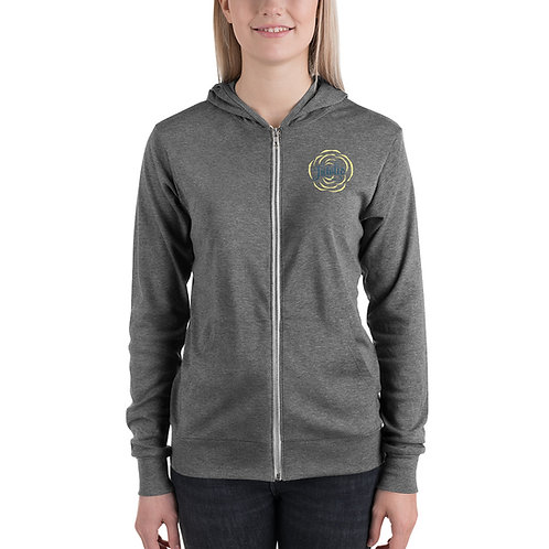 ADULT SIZED- Light weight zip hoodie
