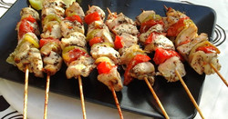 Grilled Chicken Souvlaki on a Stick