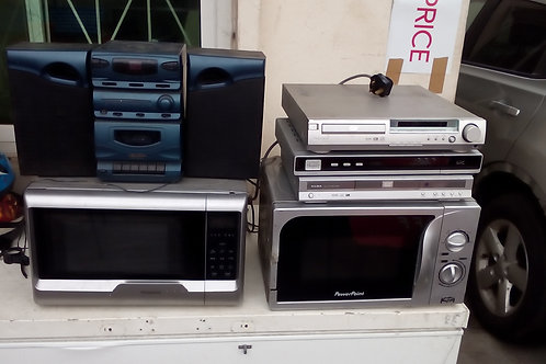DVD player, Stereo System and Speakers/Microwaves