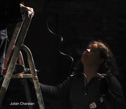 Rosie and ladder.jpe