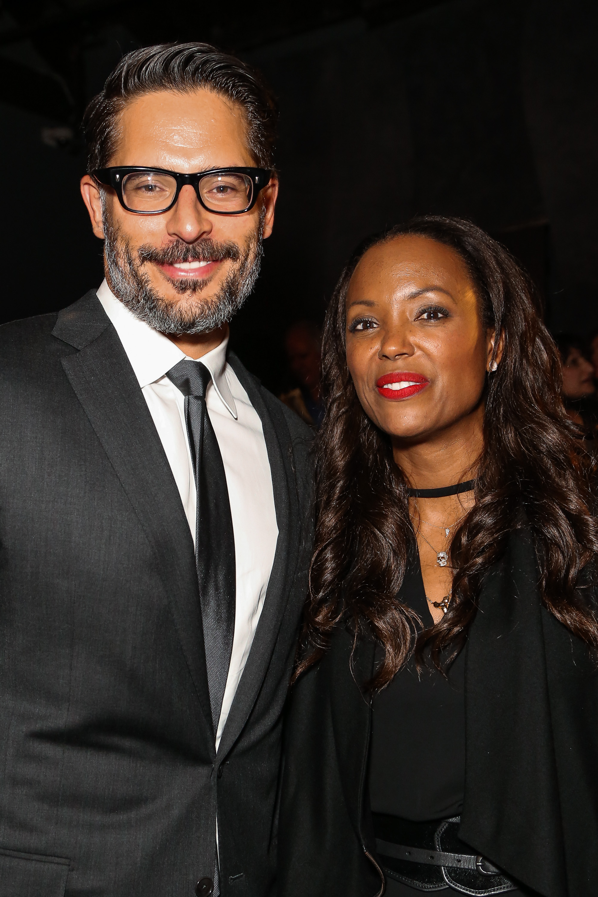 Joe Manganiello and Aisha Tyler -La Bare Premiere- Getty Images Chelsea Lauren