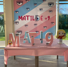 Compleanno Matilde, tema Chiara Ferragnijpe