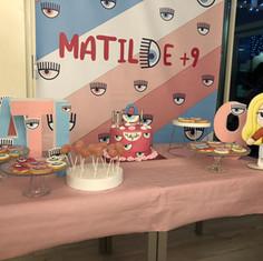Compleanno Matilde, tema Chiara Ferragni