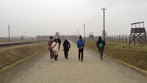 ビルケナウ収容所の360度の風景