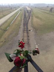 門の上から見た線路