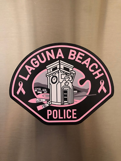 LBPD PINK PATCH MAGNET