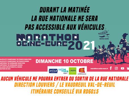 Marathon Seine Eure, dimanche 10 octobre