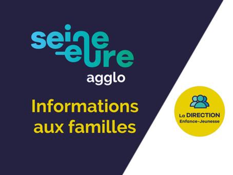 Agglo Seine Eure - Informations aux familles