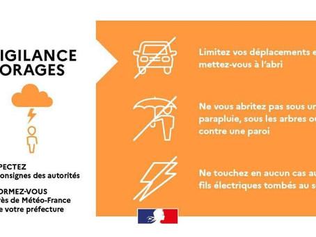 MÉTÉO Vigilance Orange