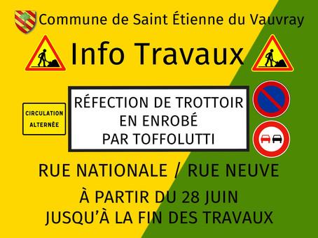 INFO TRAVAUX: RUE NATIONALE / RUE NEUVE