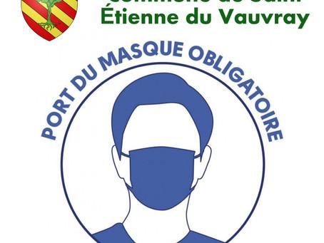 Port du masque en extérieur à Saint Étienne du Vauvray